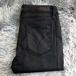 Calvin Klein Faux Leather Jeggings Zippers